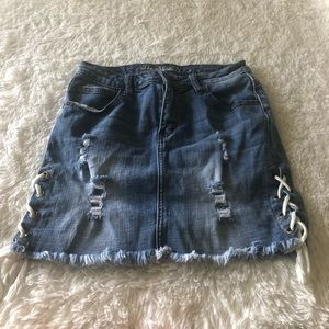 Side Lace Mini Skirt NWOT